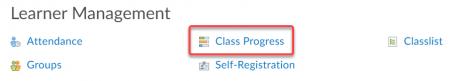 Class Progress link